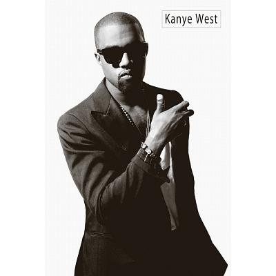 (24x36) Kanye West Black and White Music Poster ()