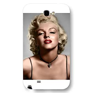 UniqueBox - Customized White Frosted Samsung Galaxy Note 2 Case, Marilyn Monroe Samsung Note 2 case, Only fit Samsung Galaxy Note 2