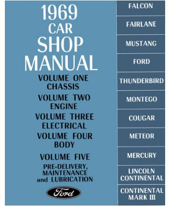 amazon com 1969 mercury comet cougar etc shop service manual book rh amazon com 1969 ford car shop manual pdf 1969 ford car shop manual pdf
