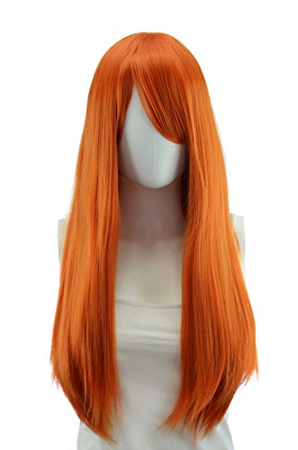 Wrath Costumes Hair - EpicCosplay OFFICIAL Autumn Orange Long Straight Wig Halloween Cosplay Costume Hair for