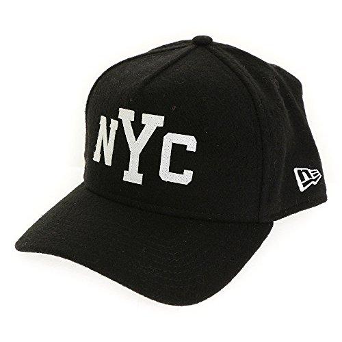 (ニューエラ) NEW ERA キャップ スナップバック 9FORTY Aフレーム メルトン NYC ブラック FREE (サイズ調整可能)