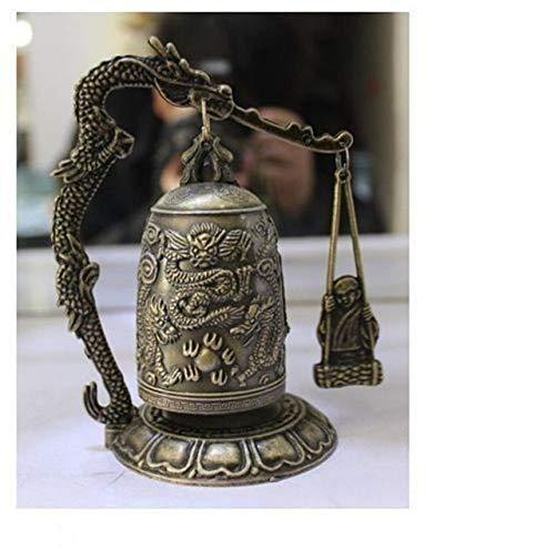 BeesClover Brass Brass Tibet Dragon Temple Shelf Sculpture Vintage Silver Tools Wedding Decoration Brass Brass Decoration Show