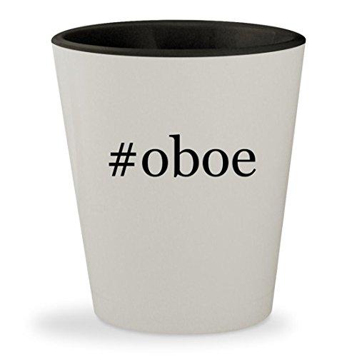 #oboe - Hashtag White Outer & Black Inner Ceramic 1.5oz Shot Glass