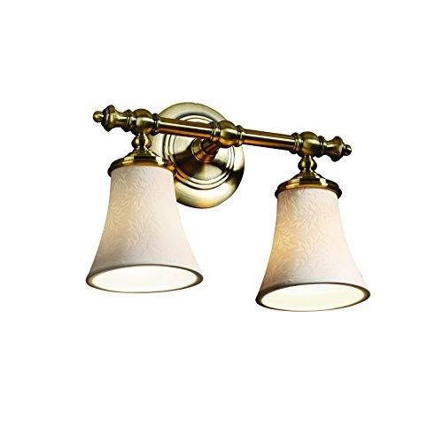 Sconce Porcelain Brass (Justice Design Group Limoges 2-Light Bath Bar - Antique Brass Finish with Leaf Translucent Porcelain Shade)