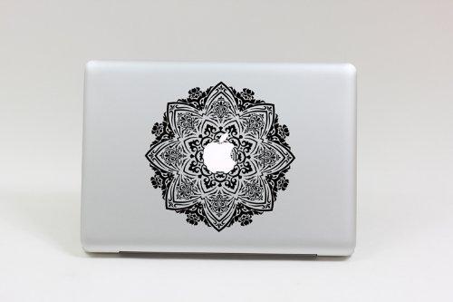 Amazoncom Macbook Decal Transparent Flower Macbook Sticker - Macbook air decals