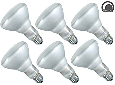Luxrite LR20880 (6-Pack) 65-Watt R30 Incandescent Flood Light Bulb, 500 Lumens E26 Base