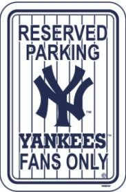 - Fremont Die MLB New York Yankees Sign12x18 Plastic Reserved Park Pinstripes, Team Colors, One Size
