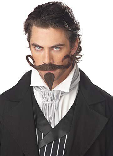 California Costumes Men's The Gambler Moustache & Chin Patch,Brown,One Size Costume Accessory ()