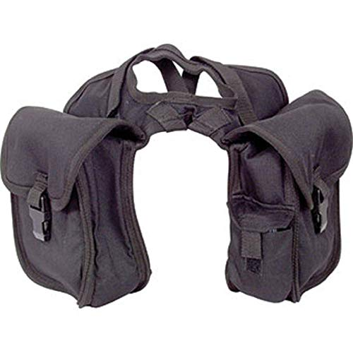 Cashel Quality Deluxe Small Horse Saddle Pommel Horn Bag, Padded Pockets, Camera or Cell Phone Pocket, 600 Denier Material, Size: Small Color: Black ()