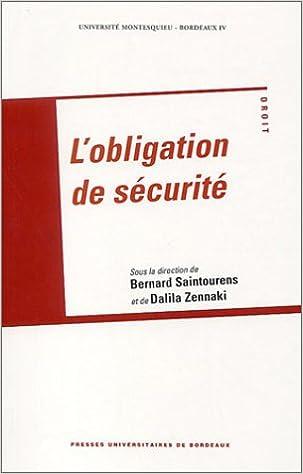 En ligne L'obligation de sécurité pdf