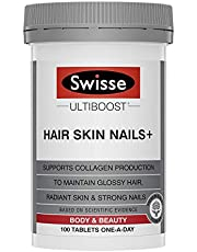 Swisse Ultiboost Hair Skin Nails+ for Collagen 100 Capsules