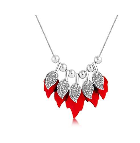 primerry Snake Bones Interlocking Personalized Round Circle Alloy Necklace Jewelry (White gold + light (Interlocking Link Necklace)