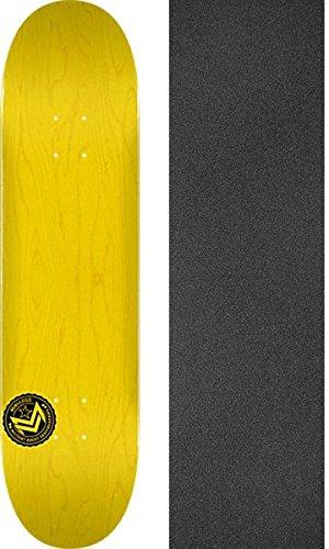 Mini Logo Chevron Stamp Yellow Skateboard Deck 112-7.75