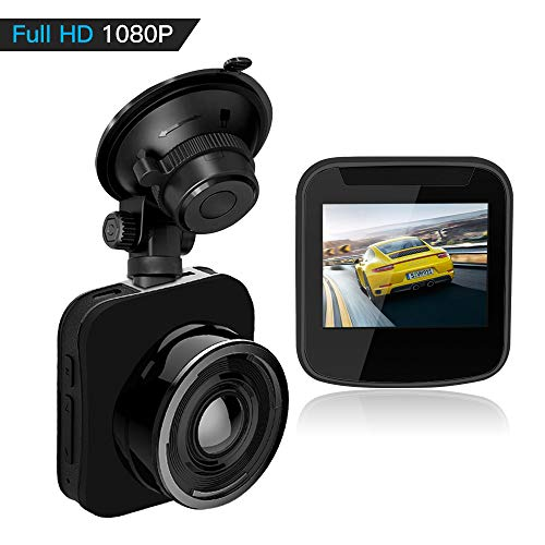 HQBKING Dash Cam, Dashboard Camera Recorder,1080P FHD DVR Dash Camera for Car, Night Vision,Wide-Angle View,G-Sensor, WDR, Loop Recording and Night Mode,2.0in LCD