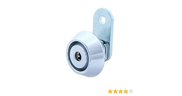FJM Security High Security Lock Collar for Cam Locks with Chrome Finish HitchSafe MEI-Collar