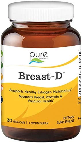 Pure Essence Labs Breast D – Vitamin D3 with DIM – Calcium D-Glucarate – Green Tea Lycopene – 30 Vegetarian Capsules