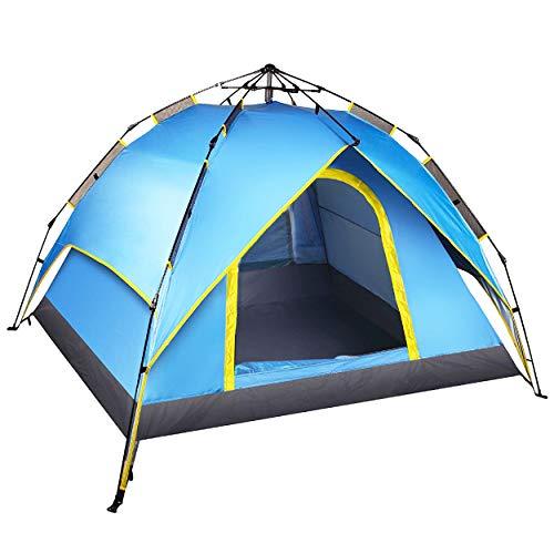 イデオロギーモディッシュ湿地テント ワンタッチ 3~4人用 キャンプテント サンシェードテント 簡易テント 軽量 防水 折りたたみ 2way コンパクト 200x200x135cm Safly Zone