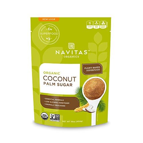 Navitas Organics Coconut Palm Sugar, 16 oz. Bag - Organic, Non-GMO, Gluten-Free, Sustainable