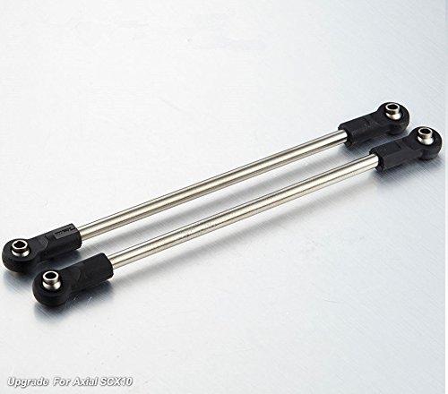 (2PCS Titanium Alloy Tie Rod Arm Linkage 114.5mm Axial SCX-10 RC Car #1481)