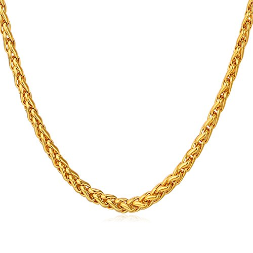U7 Spiga Chain Stainless Necklace