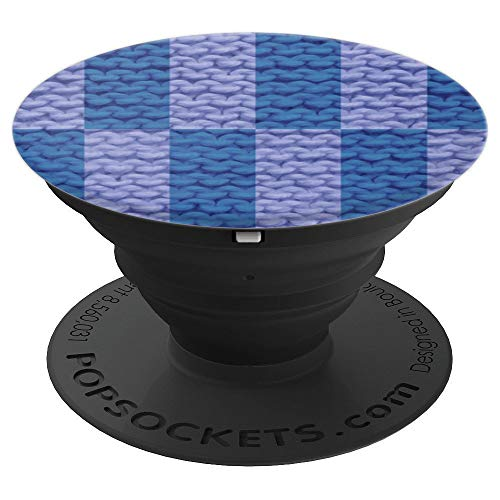 Knit Yarn Pattern - Lavender Blue - PopSockets Grip and Stand for Phones and Tablets