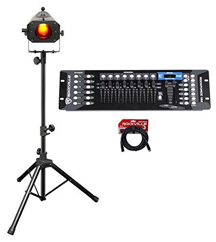 Chauvet DJ LED Followspot 75ST 7 Color Focused Light w/Stand + DMX Controller