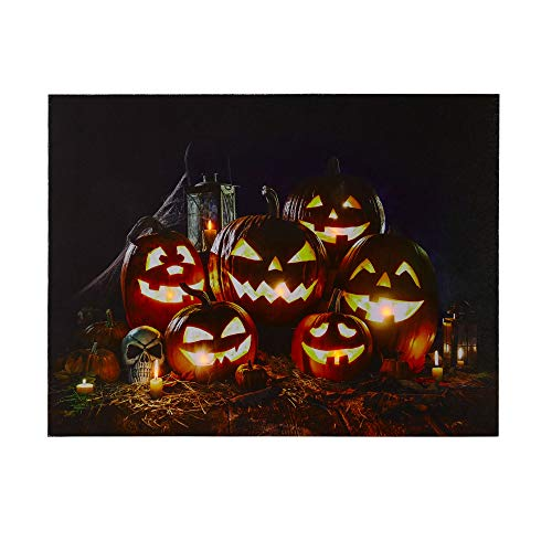 [해외]NIKKY HOME LED Lighted Halloween Jack-O-Lantern Fall Harvest Canvas Wall Art Print / NIKKY HOME LED Lighted Halloween Jack-O-Lantern Fall Harvest Canvas Wall Art Print