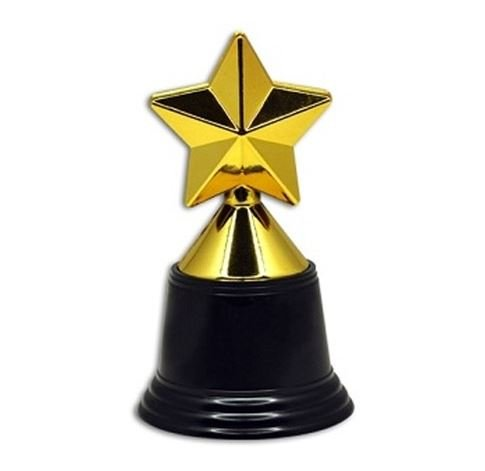 Plastic Gold Trophies, Oscar Trophy, Thumbs Up Trophy, High Five Trophy, Youre #1 Trophy, Star Trophy, Banana Trophy, by Playscene0153; (5