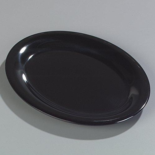 Carlisle 4308603 Durus Melamine Oval Serving / Dinner Platter, 9.5'' x 7.25'', Black (Pack of 24) by Carlisle (Image #2)