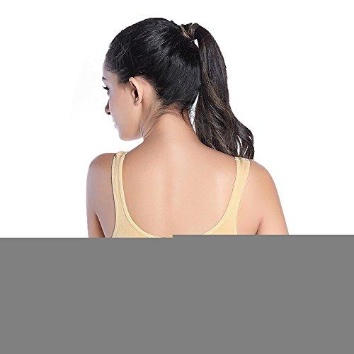Gabkey Sport BH Mujer sosténes deportivas de yoga cómoda y elástico Ropa interior Push Up Camisetas sin mangas para correr Fitness Piel