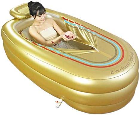 大人用浴槽、インフレータブルバスPVC折りたたみ式大人用ポータブルインフレータブル浴槽滑り止め、家族用バスルーム用エアポンプ付き