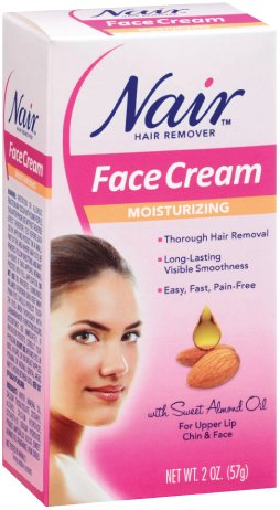 Nair Hair Removal Cream for Face with Special Moisturizers, 2-Ounce Bottles (Pack
