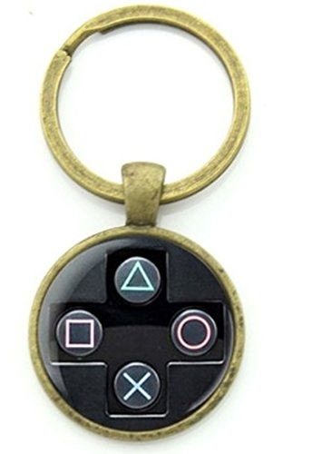 1 Pc Mini Pocket Video Game Controller Keychain Keyring Keyfob Casual Sporty Pendant Key Chain Ring Fob Tag Holder Finder Necklace Paradisiac Popular Cute Wristlet Utility Keychains Tool, Type-07 ()