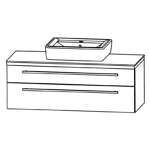 Puris Kera Trends Waschtisch + Unterschrank (SETRA1291), Weiß KeraTect, 120 cm