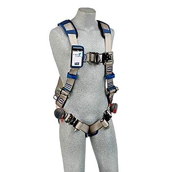 Image of 3M DBI-Sala Exofit STRATA Vest-Style Climbing Harness 1112487, Grey, Blue, Large, 1 Ea Harnesses