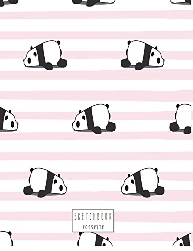 sketchbook Panda on pink cover (8.5 x 11)  inches 110 pages, Blank Unlined Paper for Sketching, Drawing , Whiting , Journaling & Doodling (Panda on pink sketchbook) (Volume 5) [sette, fos] (Tapa Blanda)