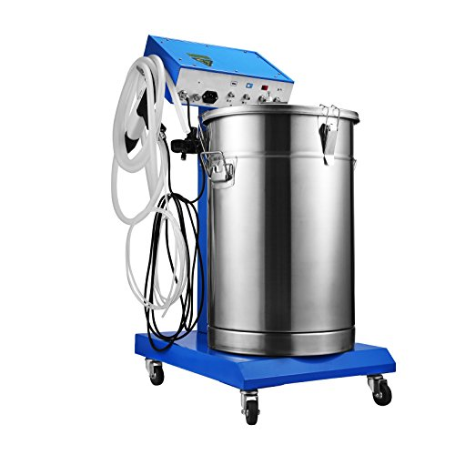 OrangeA Powder Coating Machine Hopper Volume 45L 50W Powder Coating Gun Paint 450g/min with 4m Cable Powder Coating Kit in WX-958 (45L 50W) by OrangeA