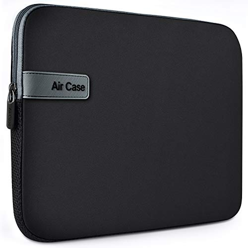 AirCase Laptop Bag Sleeve Case Cover for 11.6-Inch Laptop MacBook, Protective, Neoprene (Black)