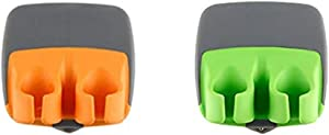 Vegetable Peeler, McoMce 2 PCS Durable Palm Peeler, Sharp Blade Finger Potato Peeler with Comfortable Rubber Finger Grip, Palm Peeler Vegetable Peeler for Pumpkin, Carrot, Cucumber, Potato and More