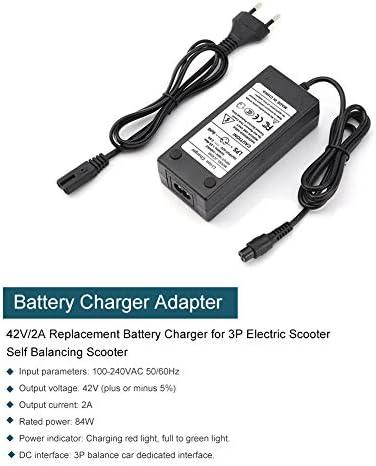 42V 2A EU Plug Adaptateur Secteur Adaptateur Secteur Alimentation Chargeur pour Skate Scooter Vélo électrique