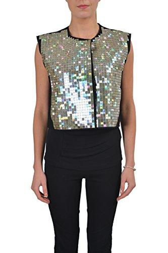 Maison Martin Margiela Women's Wool Cashmere Black Sparkle Vest US M IT - Margiela Martin Black Maison
