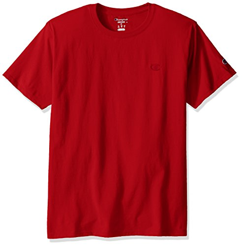 Champion Men's Classic Jersey T-Shirt, Scarlet, M (Champion Logo Sweatpants)
