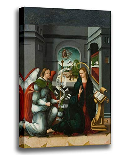Canvas Print Wall Art - Annunciation - AndrÃs de Melgar - Giclee Printed on Stretched Gallery Wrap - 12x16 inch