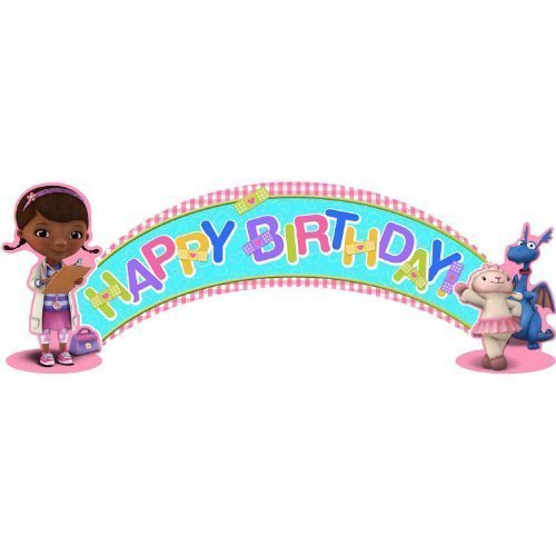 SmileMakers Disney Doc McStuffins Party Birthday Banner 1 per -
