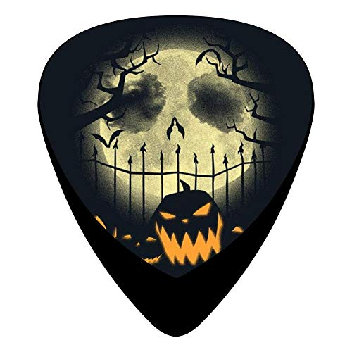 Halloween Jack-Skellington Guitar Picks 12-Pack Celluloid Paddles Fender Bass For Musician]()