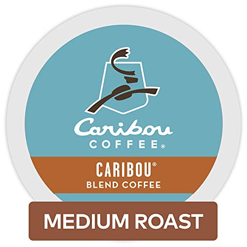 Keurig Roast Medium Coffee (Caribou Coffee Caribou Blend, Single Serve Coffee K-Cup Pod, Medium Roast, 72 Pack of 6)