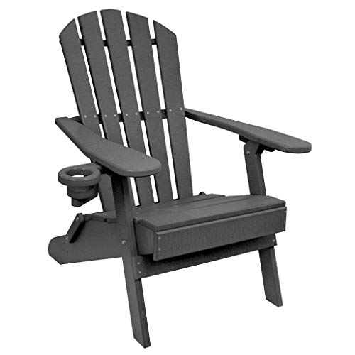 Outer Banks Value Line Poly Lumber Adirondack Chair (Dark Gray) (Chairs Plastic Gray Adirondack)