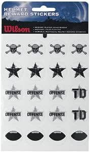 Wilson Helmet Reward Stickers Black//Grey, One Size Fits All