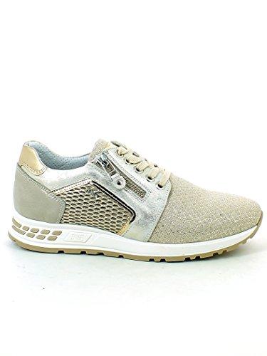 Beige Giardini 37 con Zip Nero Sneaker Laminata EzEqC