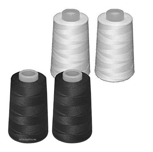 4 conos de hilo de poliester, especiales para máquinas de coser y remalladoras (2
